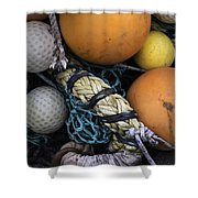 Fish Netting And Floats 0129 Shower Curtain