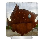 Fish Of Steel Shower Curtain