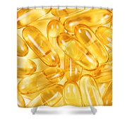 Fish Oil Capsules In Filled Frame Format  Shower Curtain