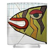 Fish Parking Shower Curtain