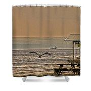 Fish Patrol Shower Curtain