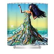 Fish Queen Shower Curtain