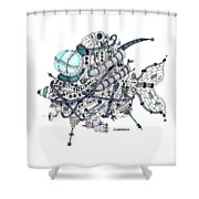 Fish Submarine Shower Curtain