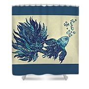 Fish Tangled 4 Shower Curtain