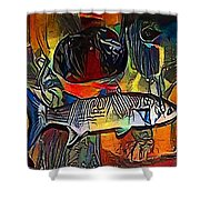 fish - My WWW vikinek-art.com Shower Curtain