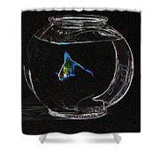 Fishbowl Shower Curtain by Tim Allen