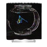 Fishbowl Shower Curtain by Tim Allen