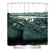 Fisher Boats Shower Curtain