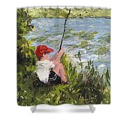 Fisher Boy Shower Curtain