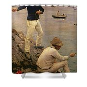 Fisher Boys Falmouth Shower Curtain