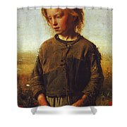 Fisher Girl Shower Curtain
