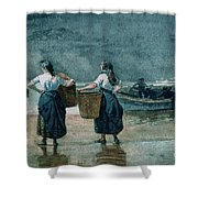 Fisher Girls By The Sea Shower Curtain by Winslow Homer