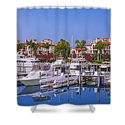 Fisher Island Miami Private Marina Shower Curtain