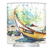 Fisherboat In Praia De Mira Shower Curtain