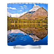 Fishercap Blue Reflections Shower Curtain