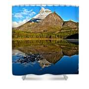 Fishercap Snowcap Reflections Shower Curtain