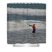 Fisherman And The Sea Shower Curtain
