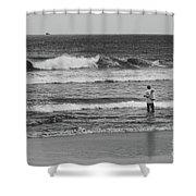 Fisherman - Costa Del Sol - El Salvador Bnw V Shower Curtain