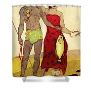 Fisherman Shower Curtain by Hawaiian Legacy Archives - Printscapes