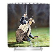 Fisherman II Shower Curtain