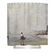 Fisherman In Villerville Shower Curtain