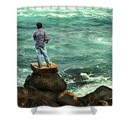 Fisherman Shower Curtain by Marilyn Hunt