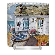 Fisherman's Cottage Shower Curtain