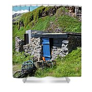 Fisherman's Hut Priest's Cove Cape Cornwall Shower Curtain