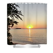 Fisherman's Island Sunset Shower Curtain