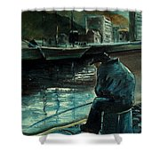 Fisherman's Patience Shower Curtain