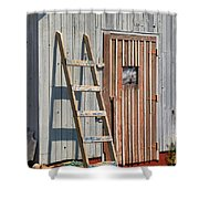 Fisherman's Shed In Prince Edward Island Shower Curtain by Louise Heusinkveld