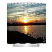 Fisherman's Sunset Horizon Shower Curtain