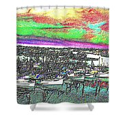 Fishermans Terminal 2 Shower Curtain