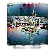 Fishermans Terminal 3 Shower Curtain