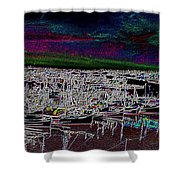 Fishermans Terminal 4 Shower Curtain