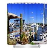 Fishermans Village Marina Fl Shower Curtain