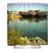 Fishermans Wharf Monterey Ca II Shower Curtain