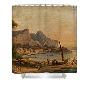 Fishermen At The Bay Shower Curtain