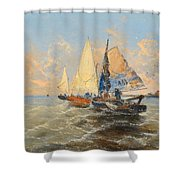 Fishermen Shower Curtain
