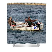 Fishermen In A Boat Shower Curtain