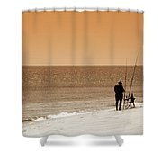 Fishermen Relax Shower Curtain