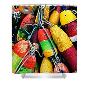 Fishermen's Floats Shower Curtain