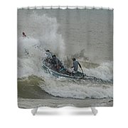 Fishers On Small Boat Shower Curtain