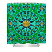 Fishes In Freedom Under The Sun Shower Curtain