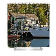Fishhut And Invictus Shower Curtain