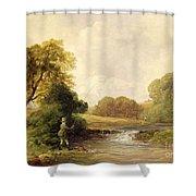 Fishing - Playing A Fish Shower Curtain
