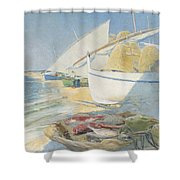Fishing 1895 Shower Curtain