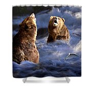 Fishing Alaska Shower Curtain