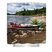 Fishing And Exploring Shower Curtain