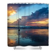 Fishing And Watching The Sunrise Shower Curtain